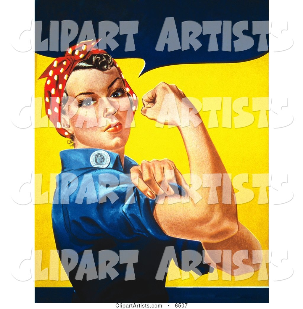 We Can Do It! Rosie the Riveter Without Text, Facing Right