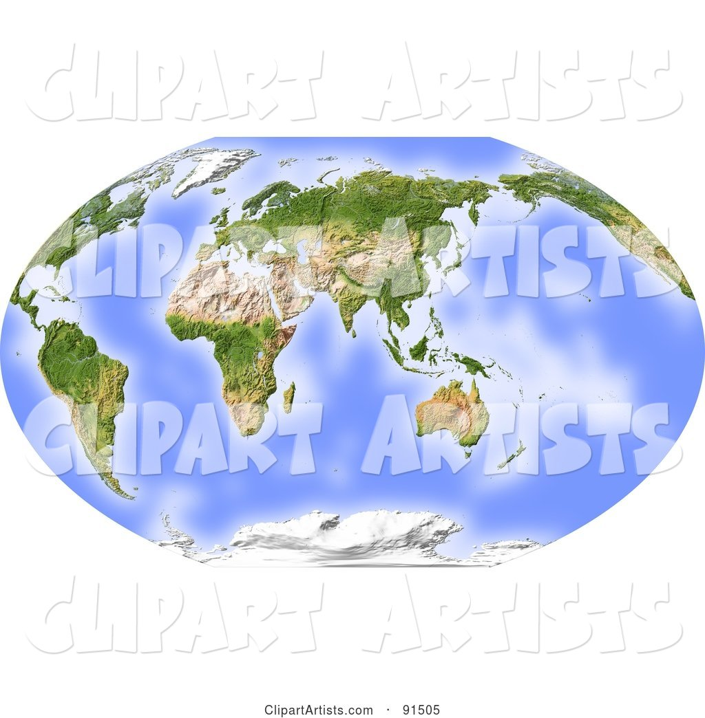 World map shaded relief centered on india clipart by michael world map shaded relief centered on india gumiabroncs Image collections