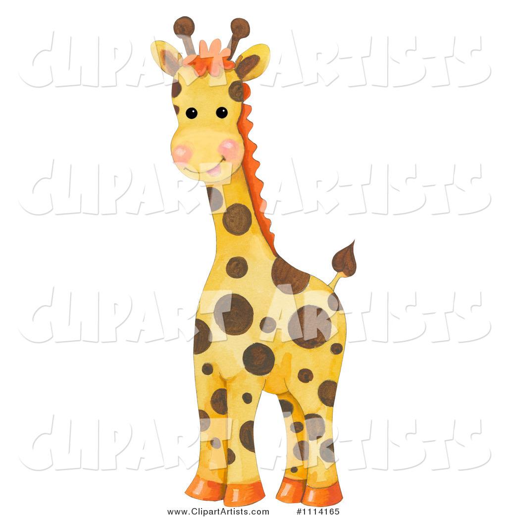 Baby Giraffe Clipart Blue  1114165 - Cute Baby Giraffe