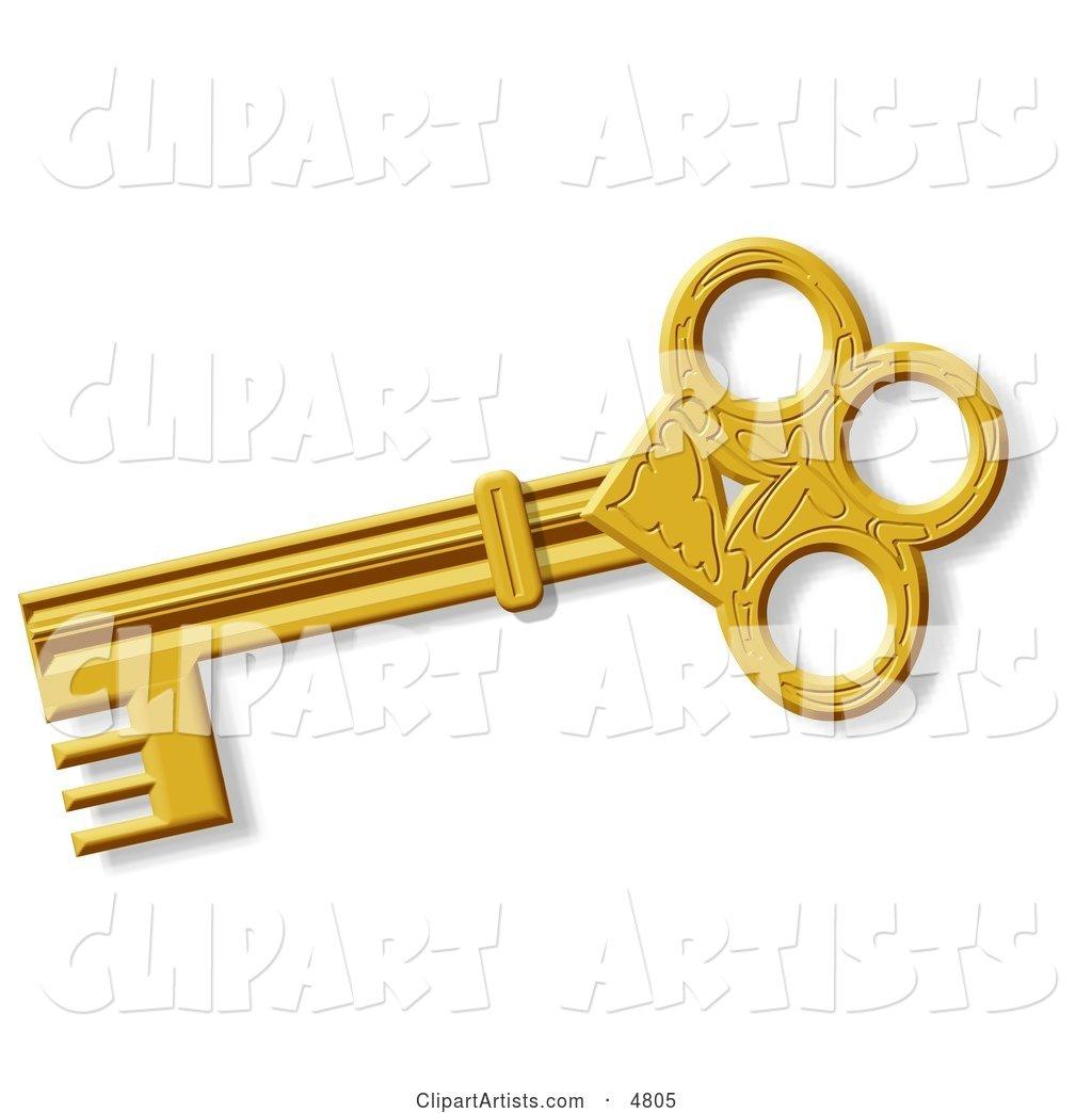 Skeleton Key Clip Art
