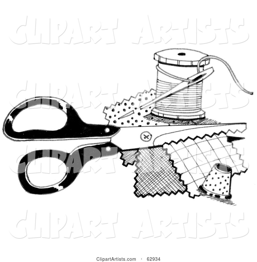 Sewing Clip Art Black And White Featured clipart by loopyland - artist ...