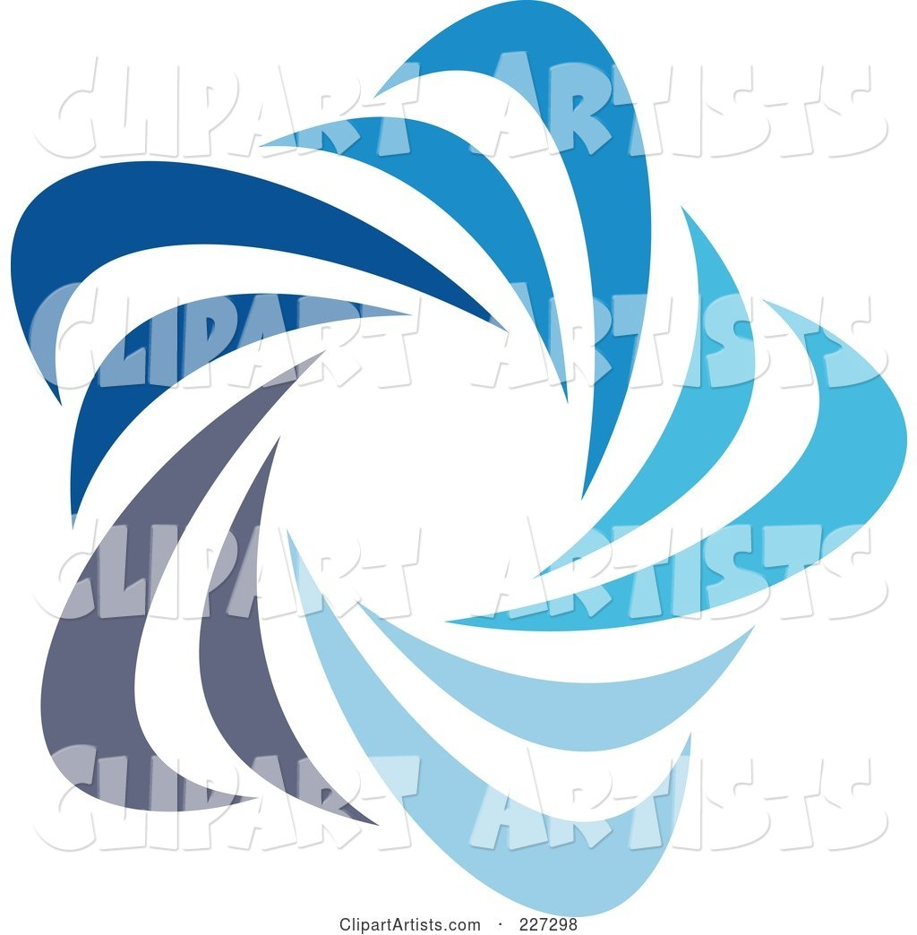 Abstract Blue Star Logo Icon - 3