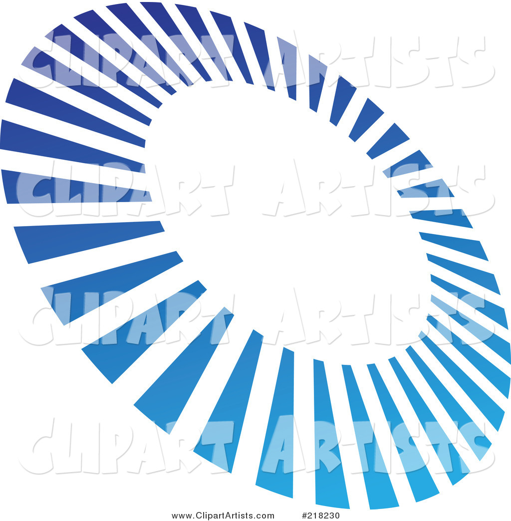 Abstract Tilted Blue Line Circle Logo Icon