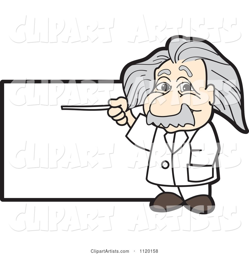 Albert Einstein Scientist Sign or Logo 1