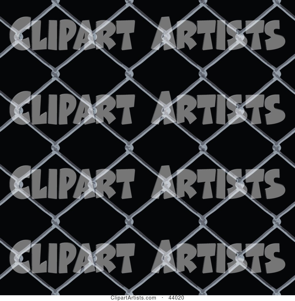 Background of Chain Link Fencing on Black