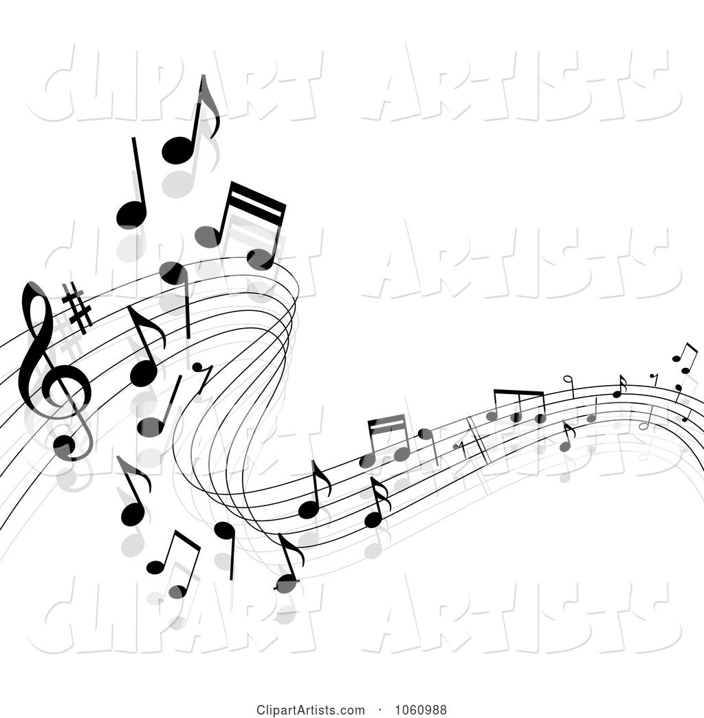 Background of Staff and Music Notes - 11