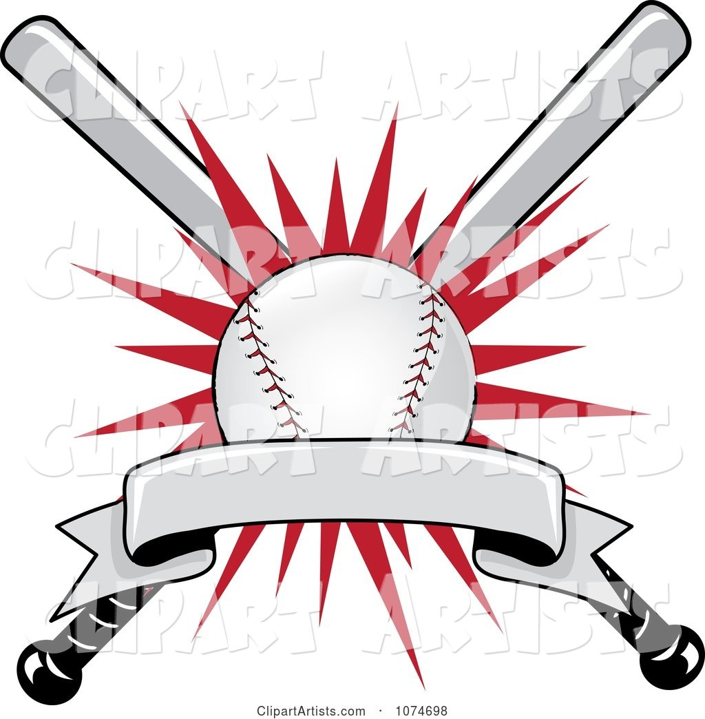 Baseball Bat and Ball Logo 1