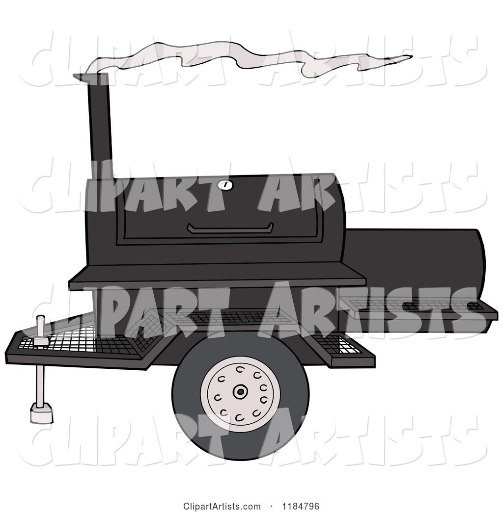 Bbq Grill with Smoke