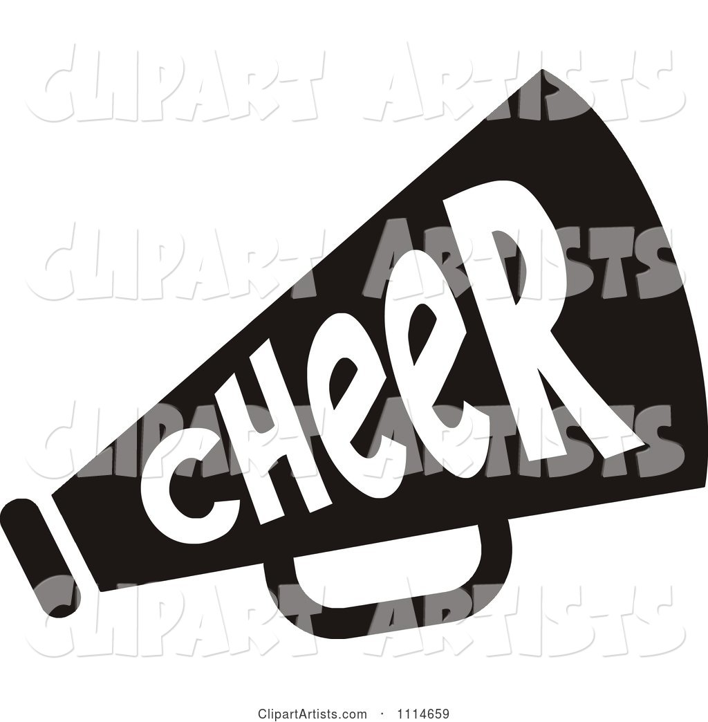 Black and White Cheerleader Megaphone