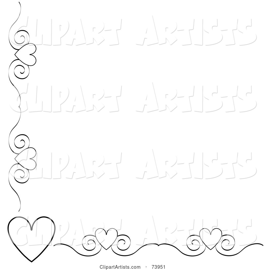 black and white heart and scroll corner border on a white heart clip art black and white #536 heart clip art black and white svg