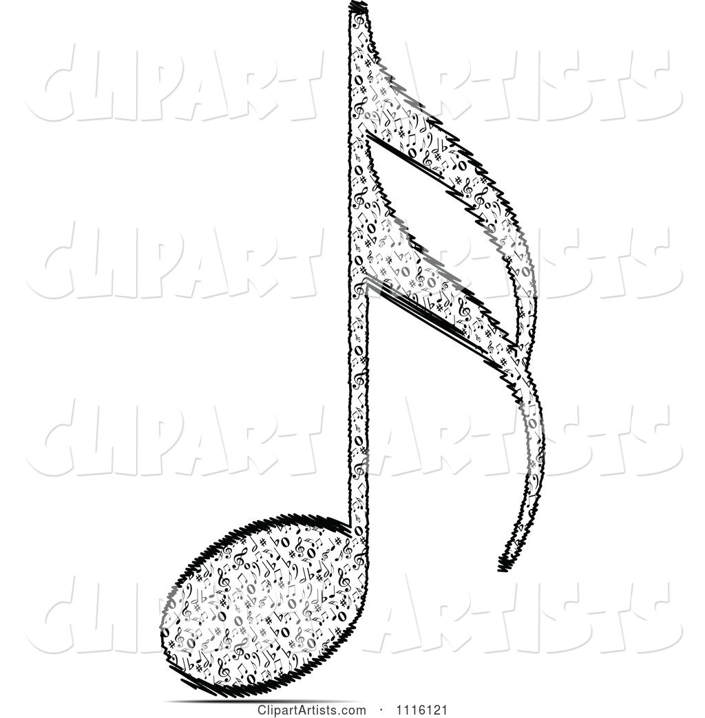 Black and White Music Note