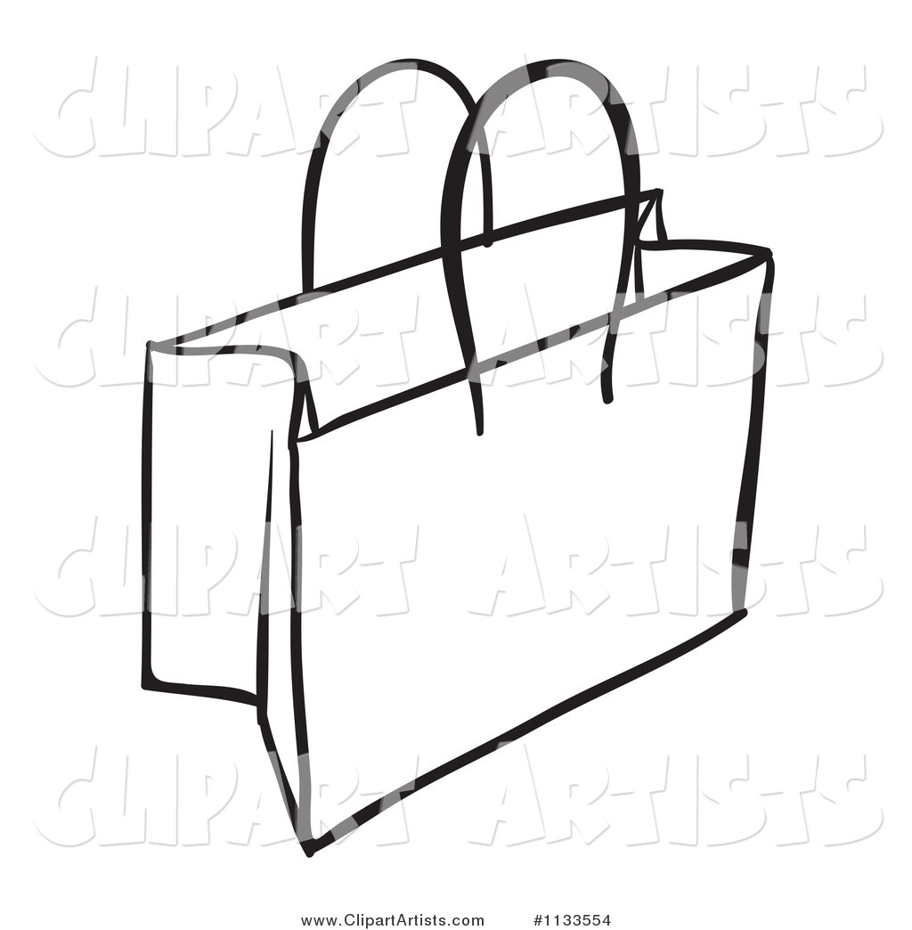 Black and White Shopping or Gift Bag