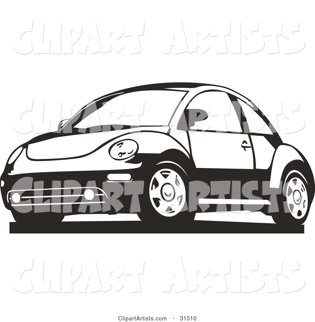 Black and White Slug Bug Car