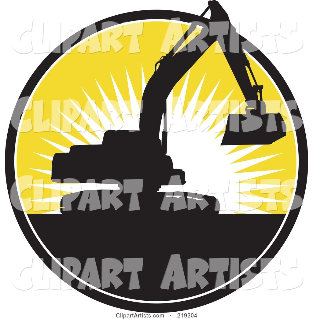 Black and Yellow Excavator Logo