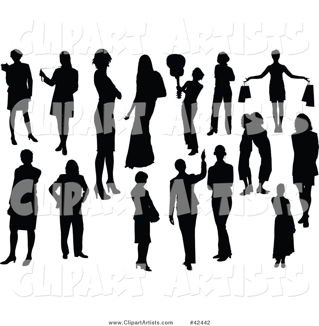 Black Female Silhouettes