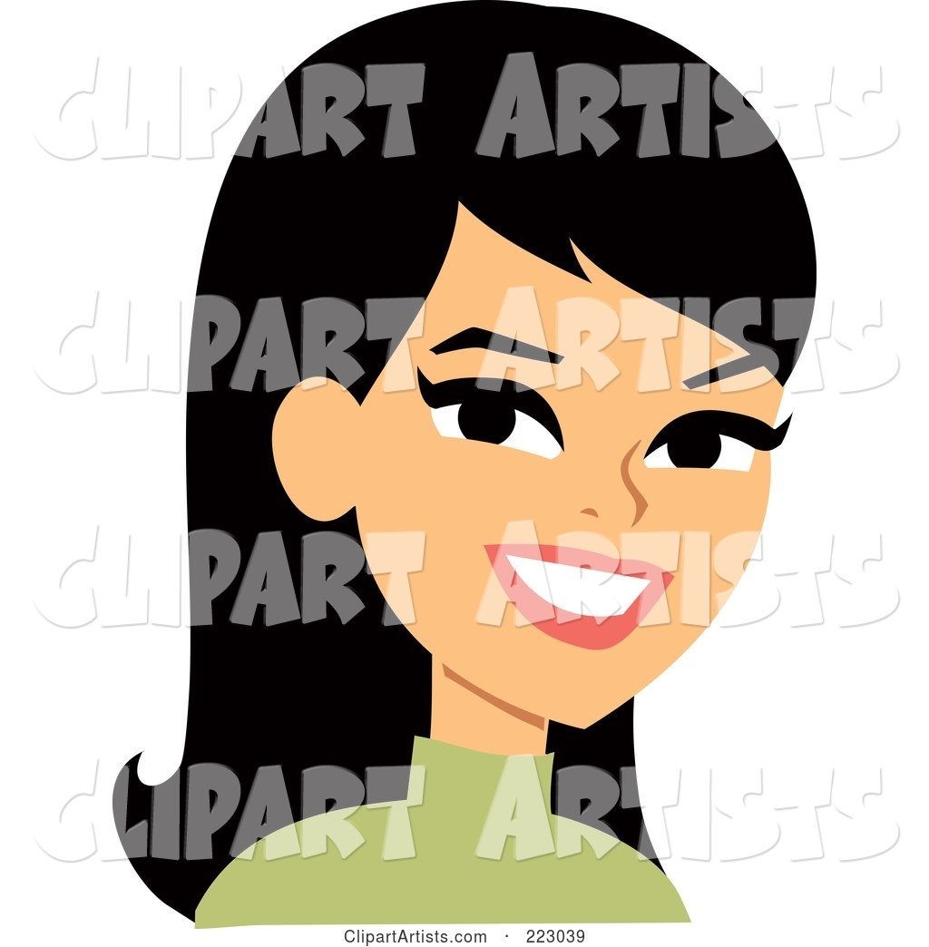 Black Haired Woman Smiling - 3