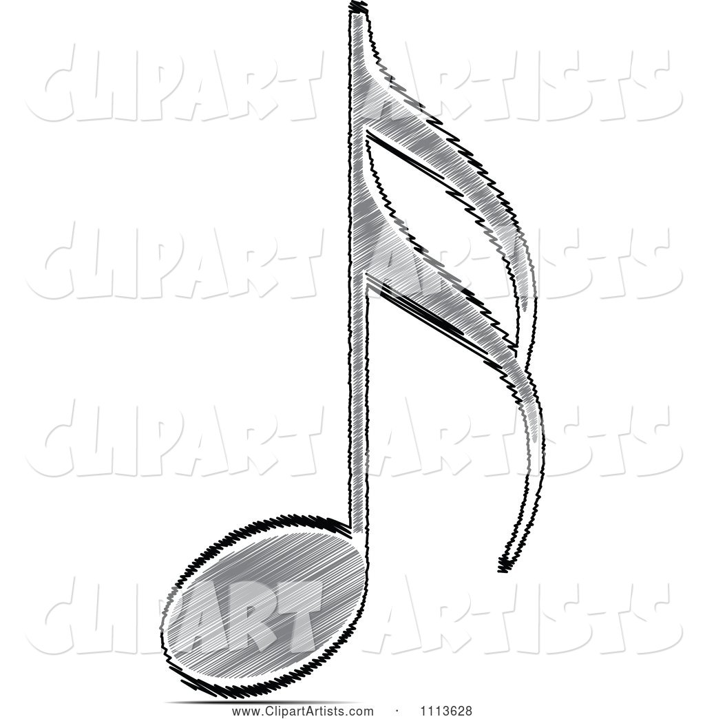 Black Scribble Music Note