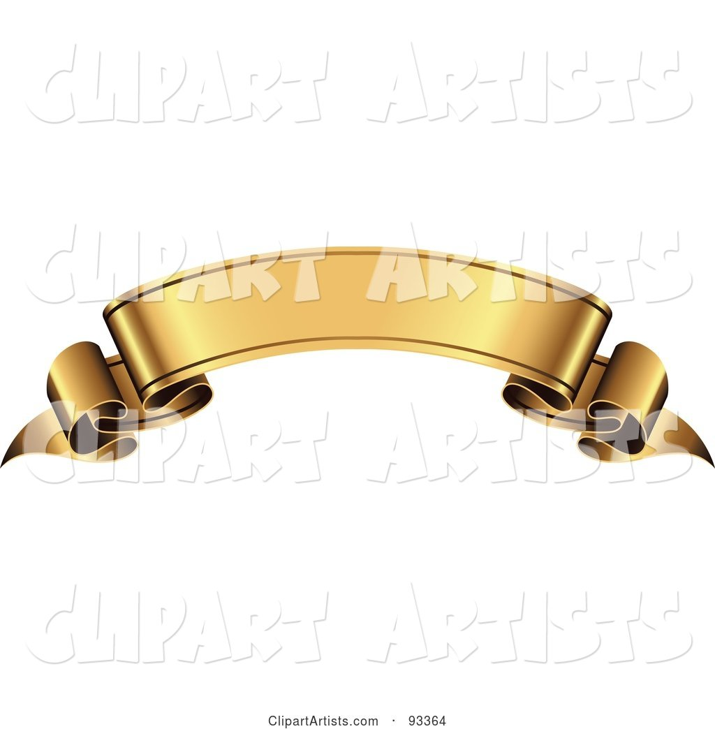 Blank Arched Gold Ribbon Banner