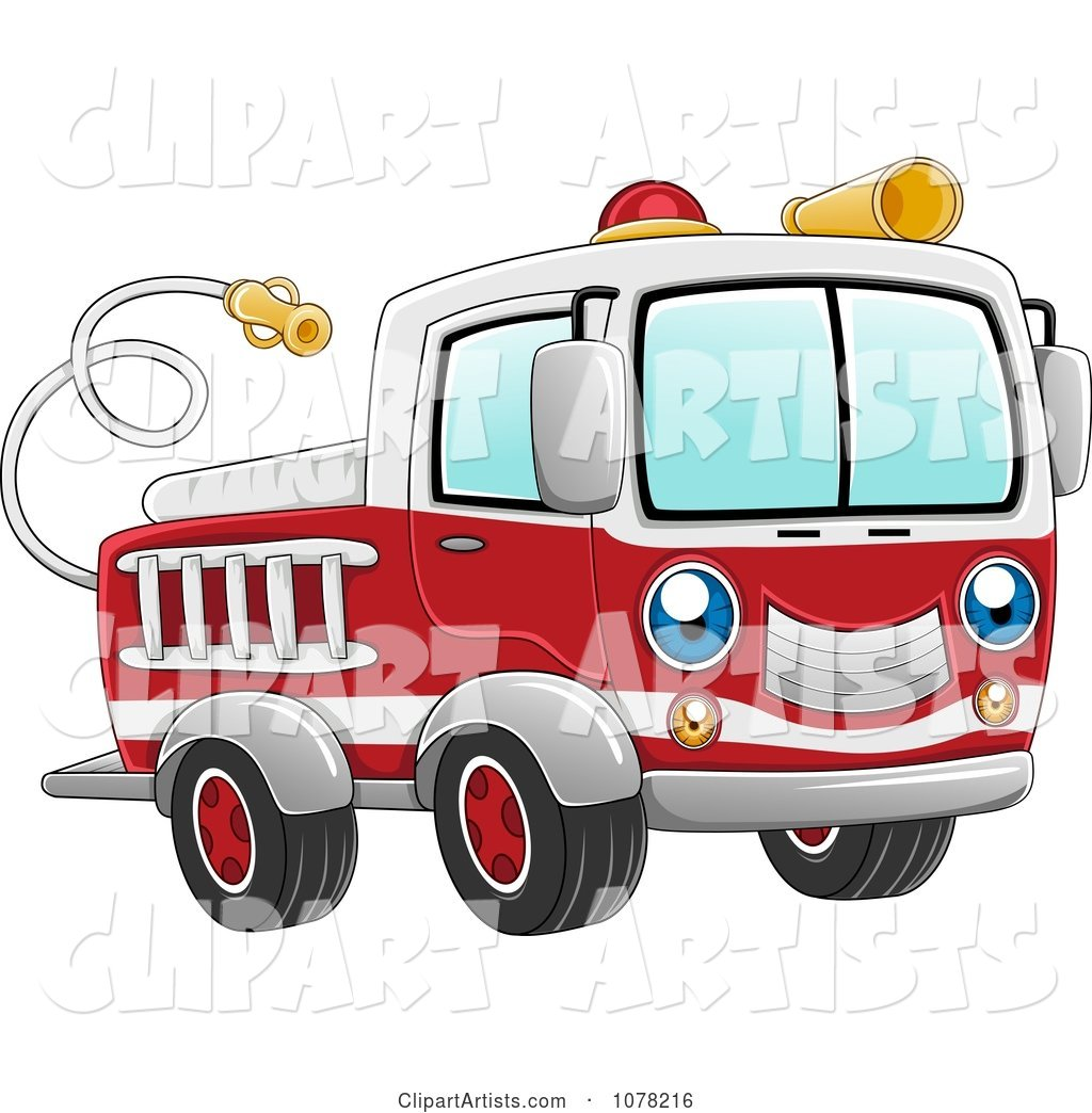 Blue Eyed Fire Truck Character