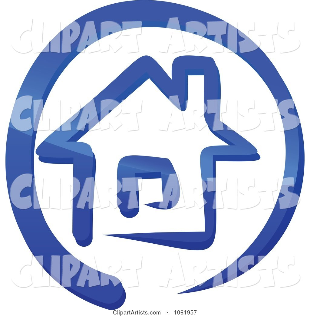 Blue Home Page Icon