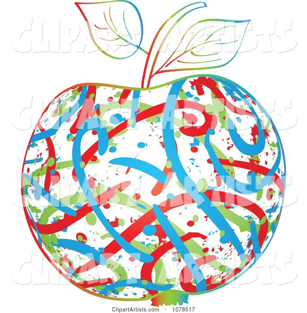Colorful Abstract Apple