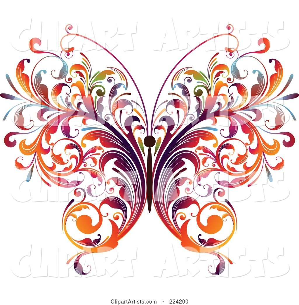 Colorful Flourish Butterfly