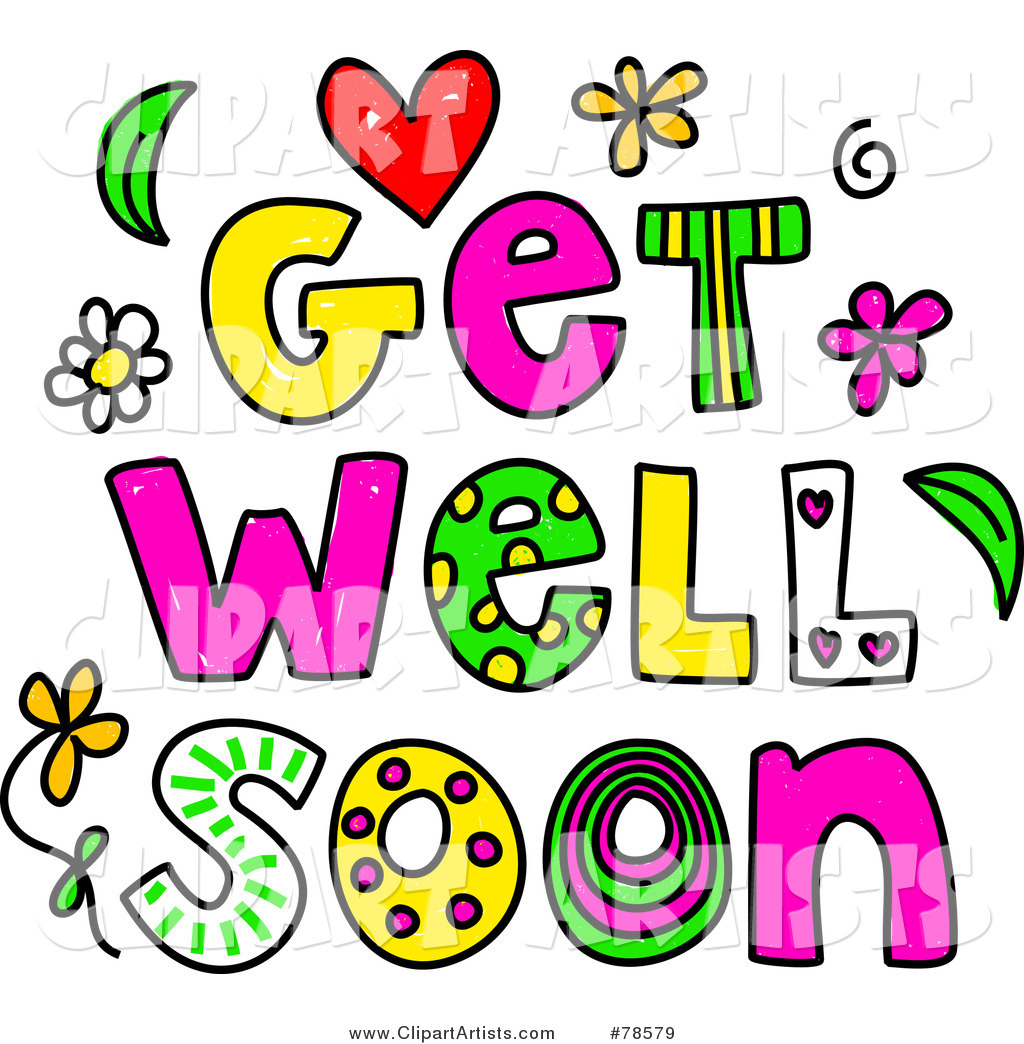 Colorful Get Well Soon Words