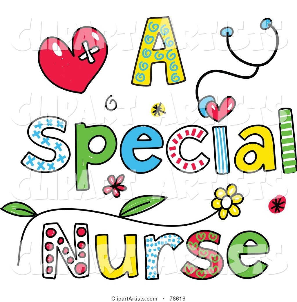 Colorful Letters Spelling a Special Nurse