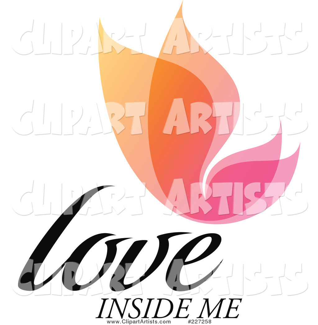 Colorful Love Inside Me Overlay Butterfly Logo