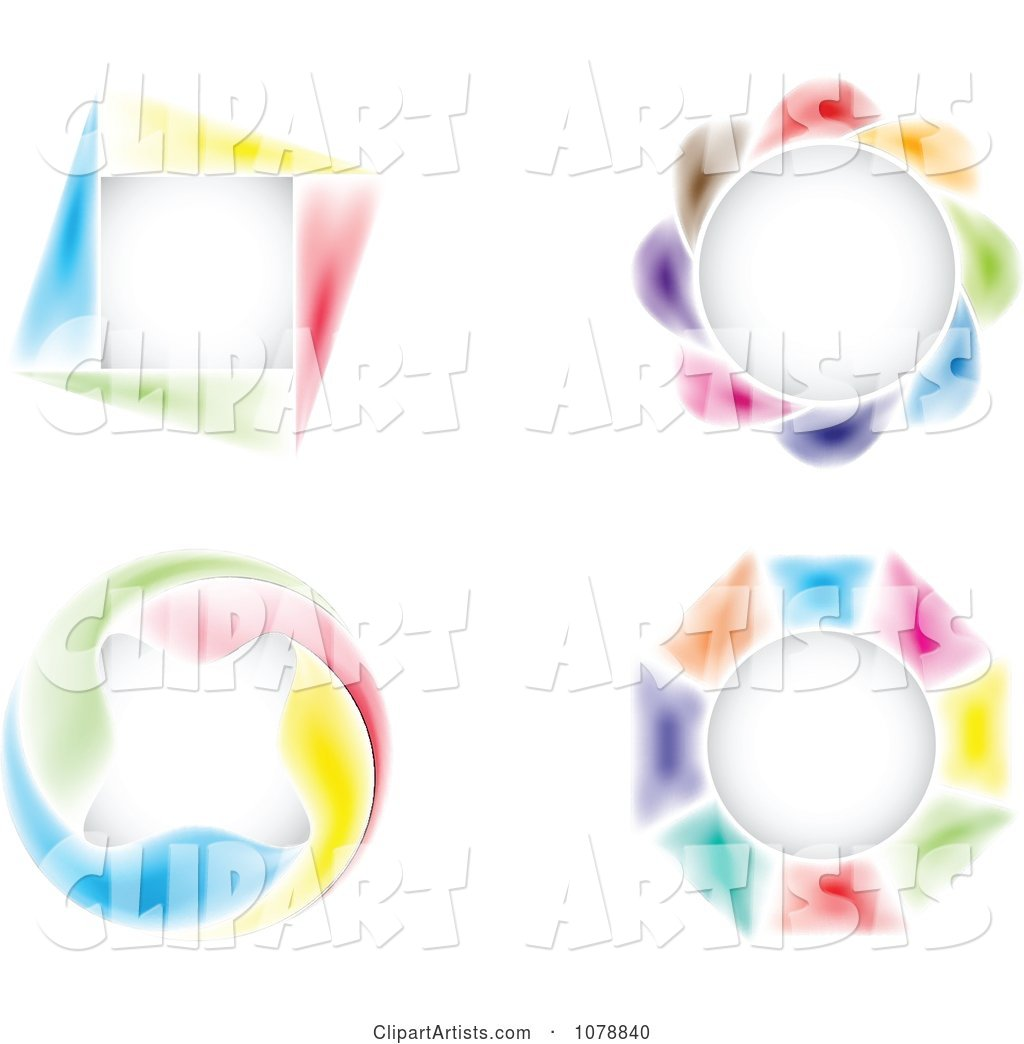 Colorful Round and Square Design Elements