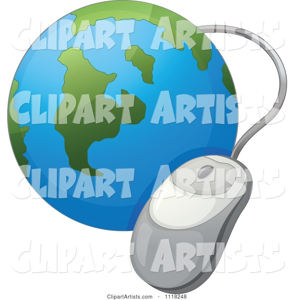 Computer Mouse and World Globe