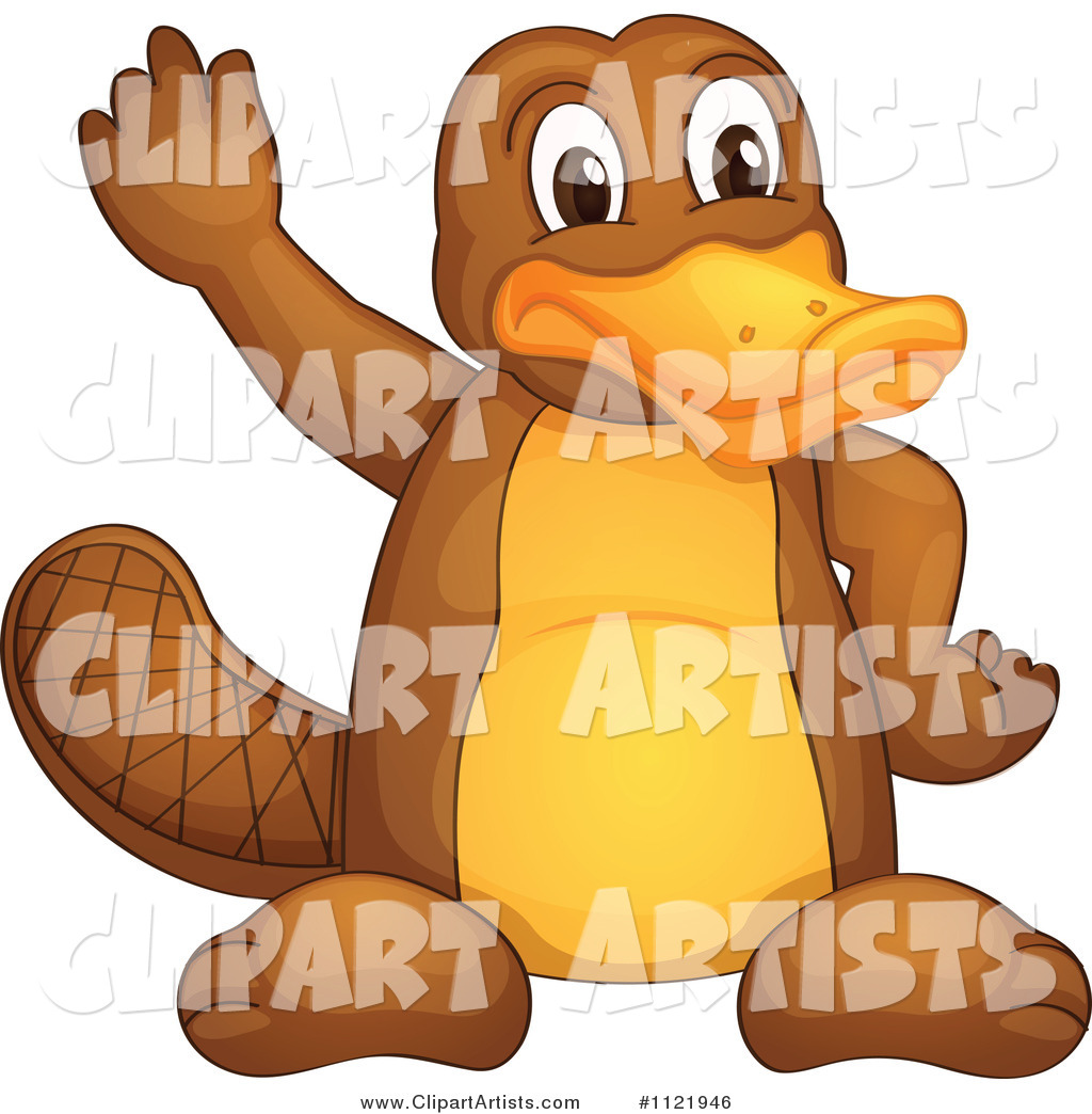 Cute Platypus Waving