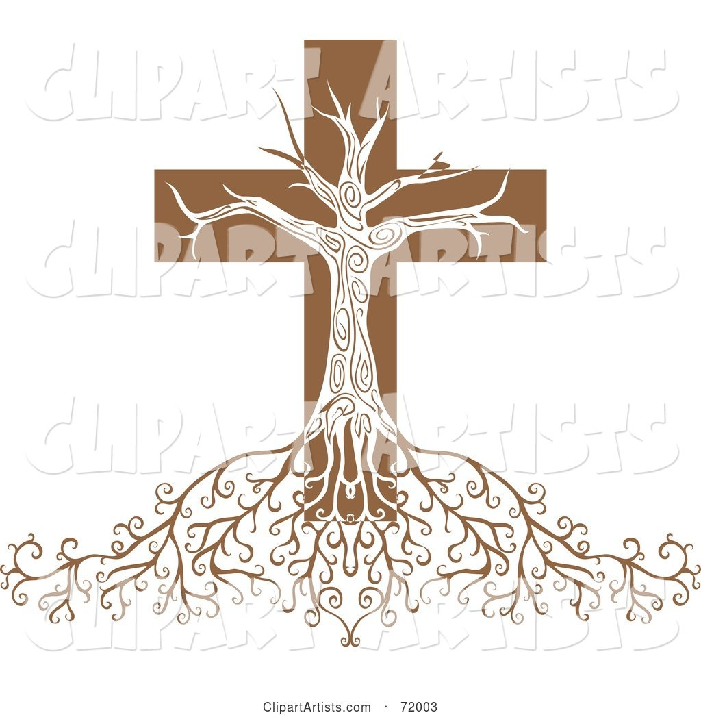 Deeply Rooted Crucifix Tree