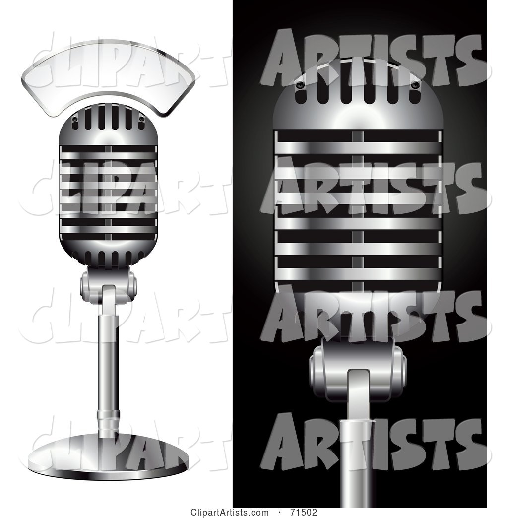 Digital Collage of a Studio Microphones