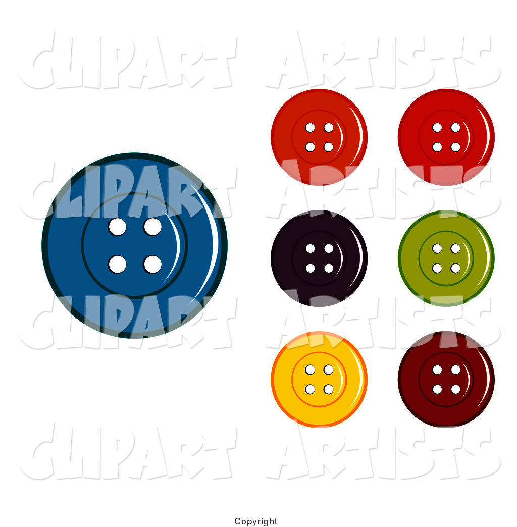 Digital Collage of Colorful Sewing Buttons
