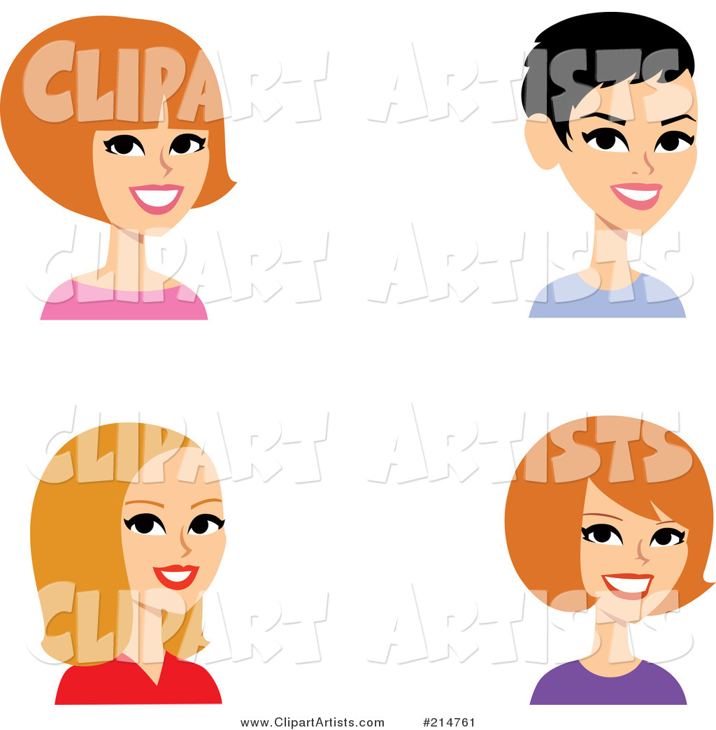 Digital Collage of Four Caucasian Ladies Smiling