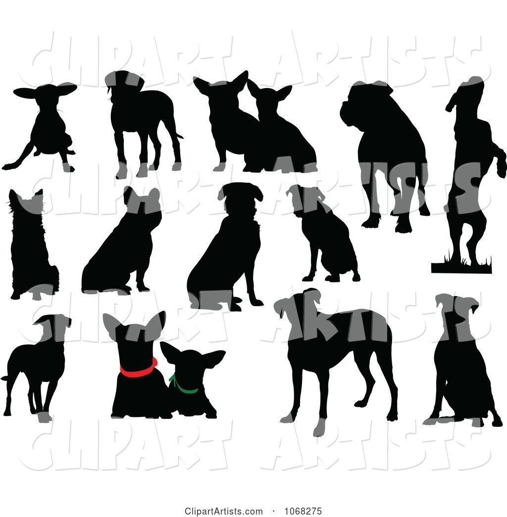 Dog Silhouettes 1