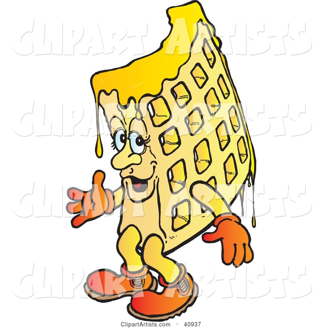 Dripping Waffle Character