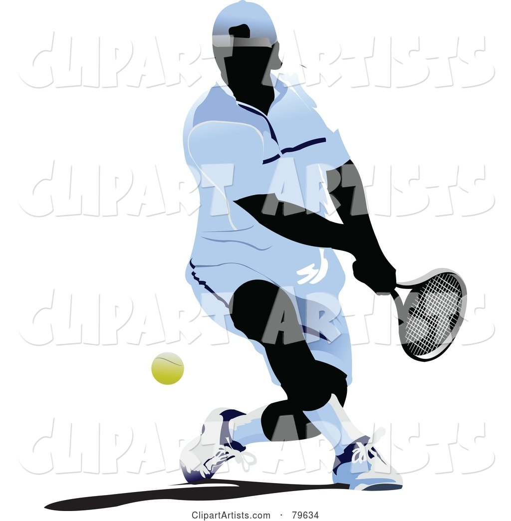 Faceless Male Tennis Player - Version 2