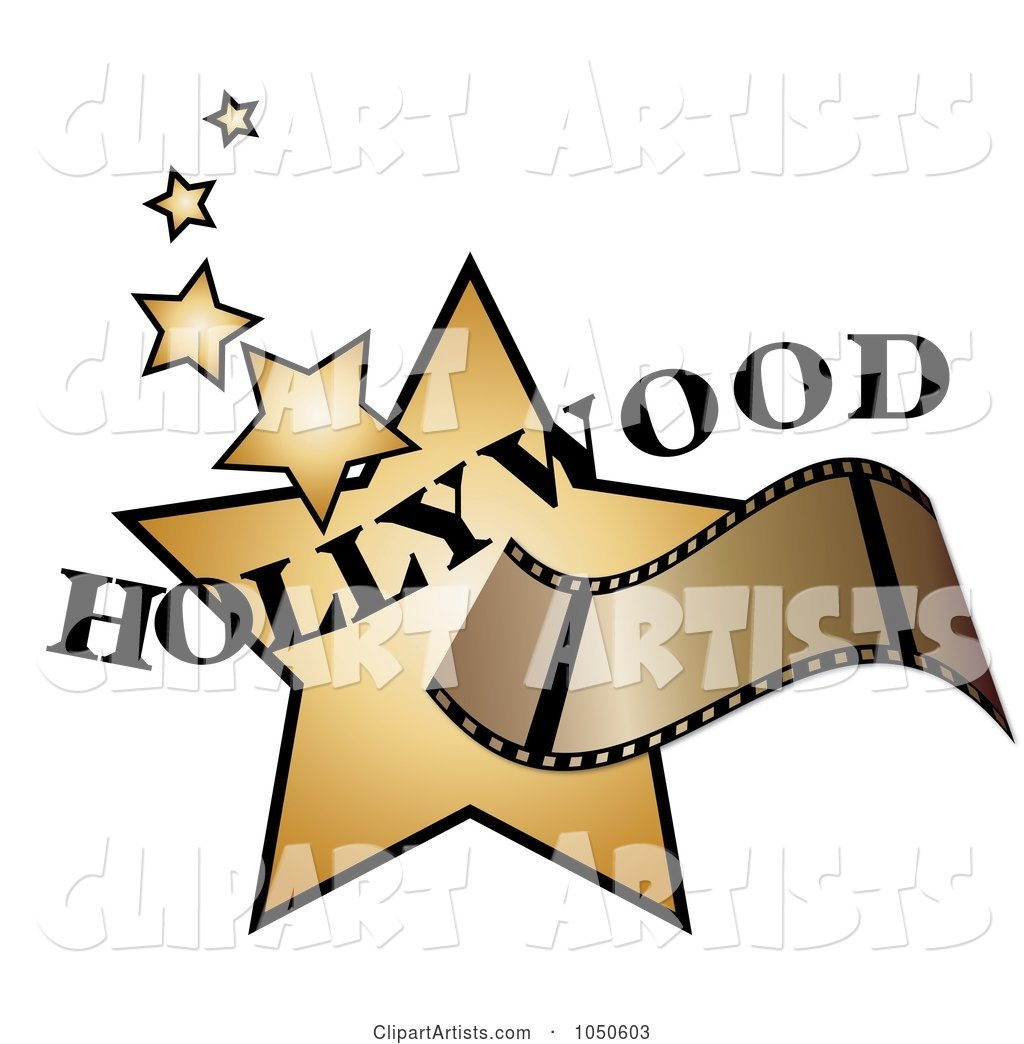 Film Strip over Golden Hollywood Stars