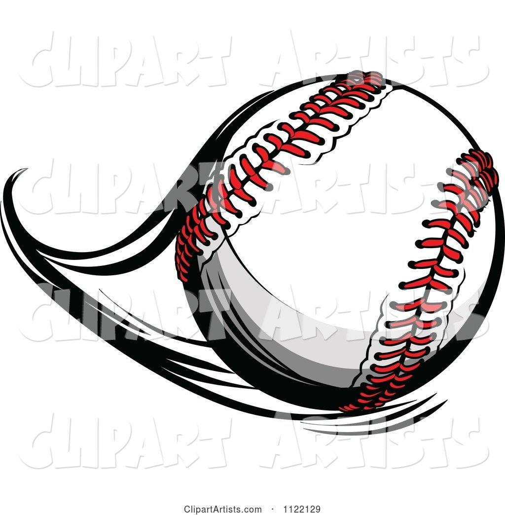 Baseball flying. Flast clipart by chromaco