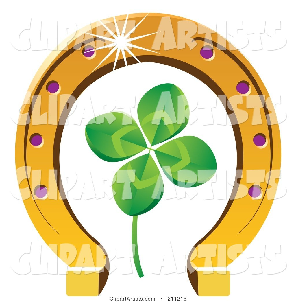 Four Leaf Clover and Horseshoe