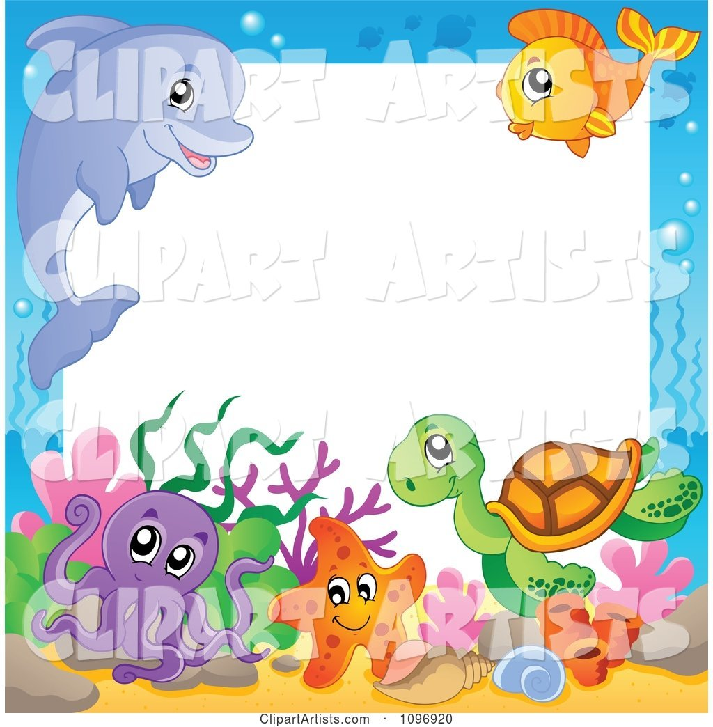 Frame of Cute Sea Animals