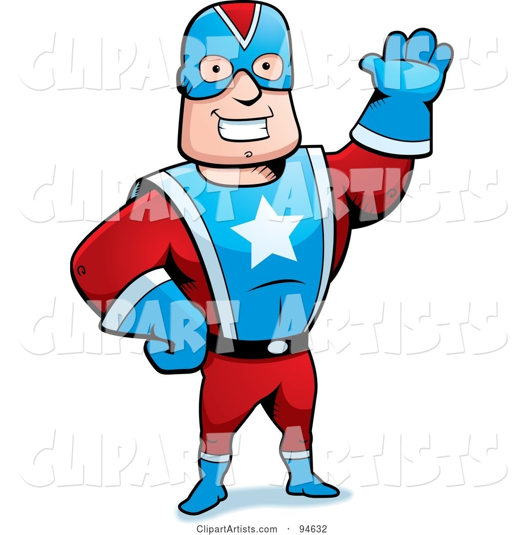 Friendly Super Hero Captin