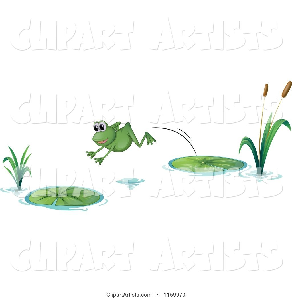 Frog Leaping from One Lily Pad to Another