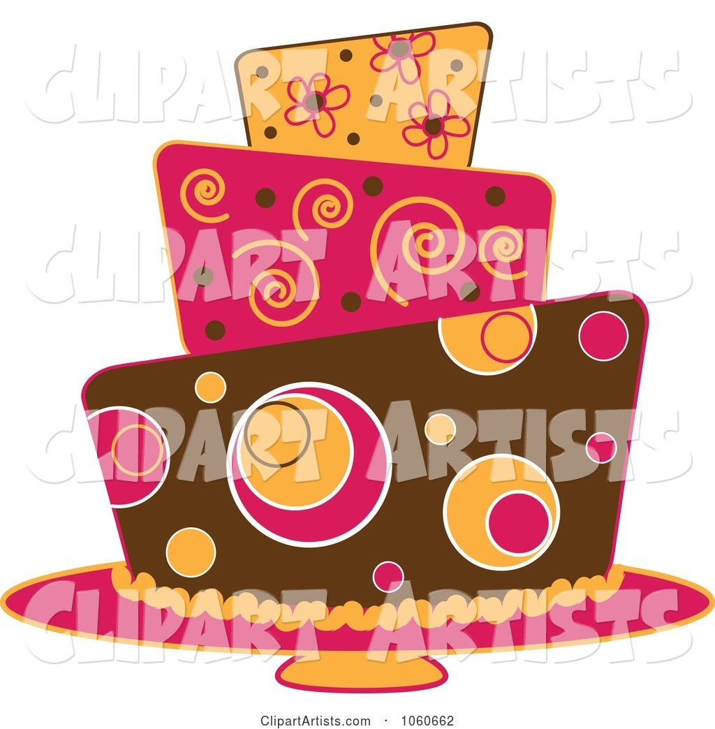 Funky Three Tiered Cake - 3