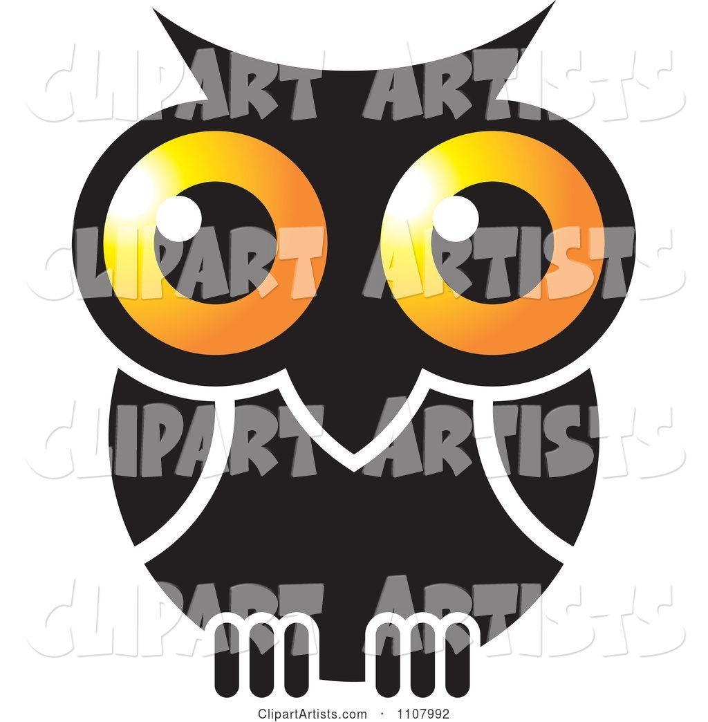 Gold and Black Owl