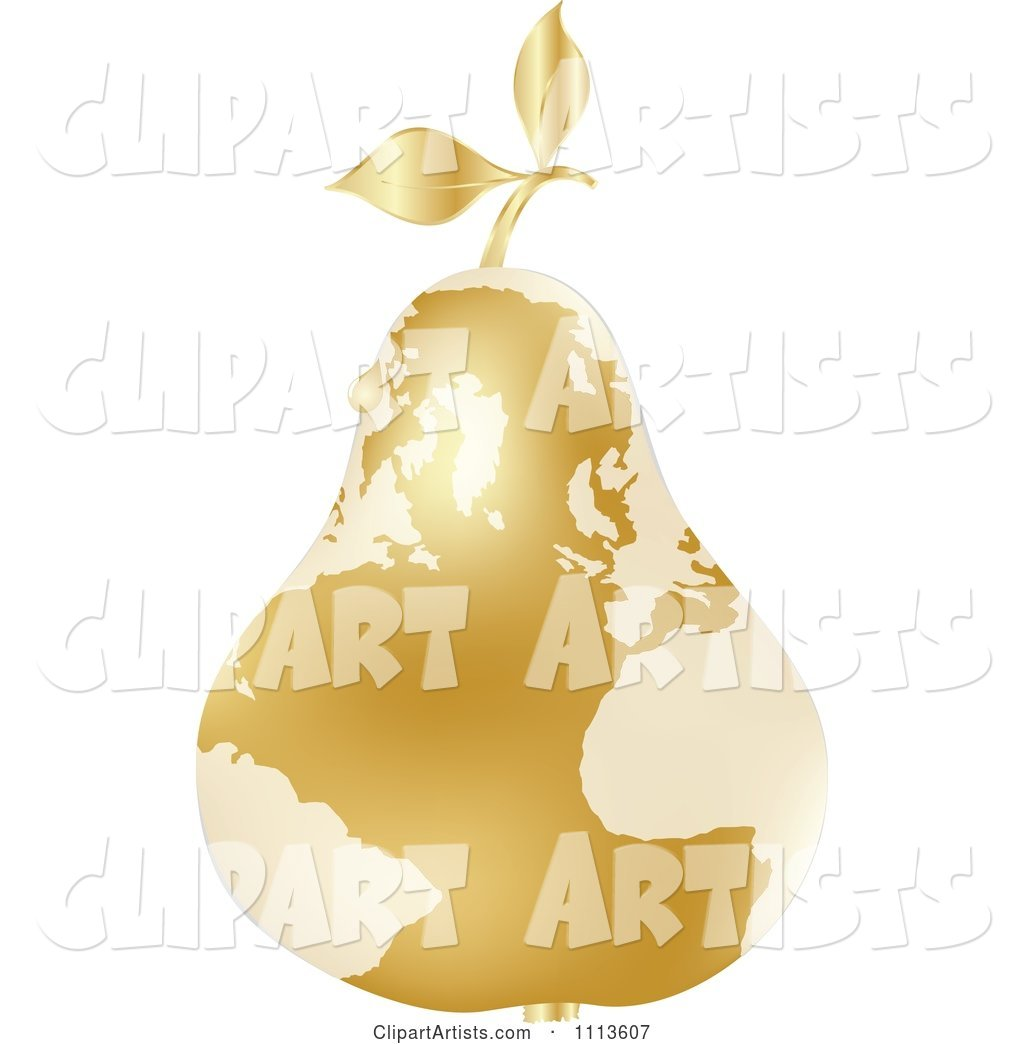 Gold Map Pear with a Dew Drop