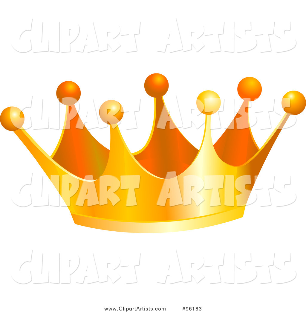 Golden King Crown with Balls on the Tips