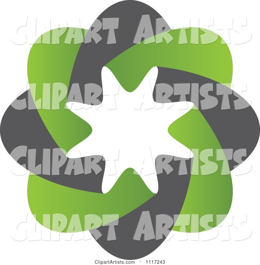 Green and Black Green Sustainable Energy Icon 1
